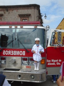 little nurse firetruck