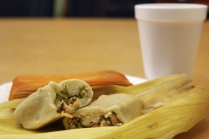 tamale with elote